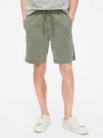 מכנסי ברמודה סטרץ' עם כיסים