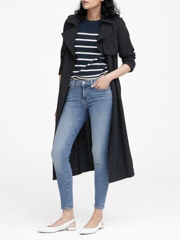 ג'ינס סקיני ארוך בשטיפה בהירה