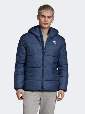 מעיל קווילט עם רקמת לוגו