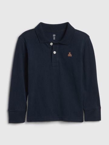 חולצת פולו שרוולים ארוכים / 12M-5Y