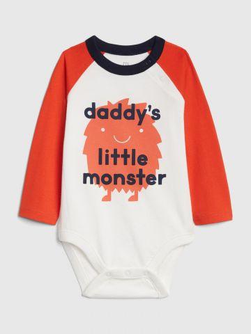בגד גוף רגלן 0-24M / Daddy's Little Monster