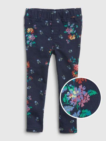 ג'ינס סטרץ' בהדפס פרחים / 12M-5Y