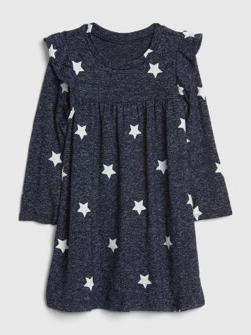 שמלת סריג בדוגמת כוכבים עם מלמלה / 12M-5Y