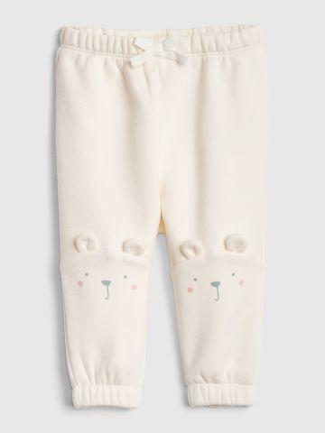 מכנסי טרנינג עם הדפס דובי / 0-24M