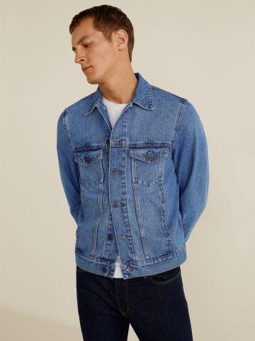 ג'קט ג'ינס קלאסי עם כיסים