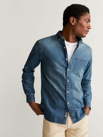 חולצת ג'ינס מכופתרת