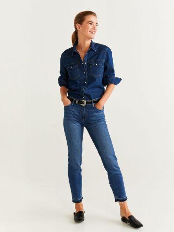 ג'ינס בשטיפה כהה עם הלבנה  Lisa