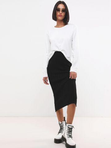 חצאית מידי סריג