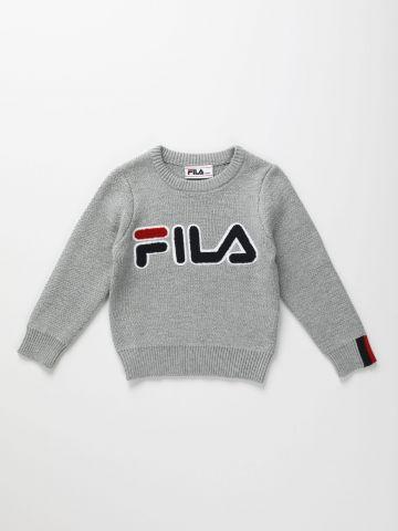 סוודר עם רקמת לוגו / בנים