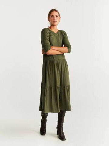 שמלת מידי קומות בטקסטורת ריב