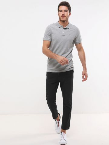 חולצת פולו Slim-Fit עם רקמת לוגו