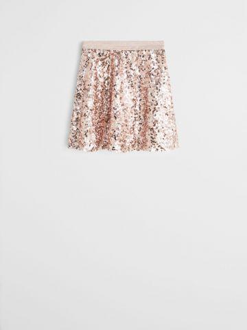 חצאית מיני עם פאייטים / בנות