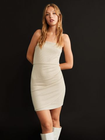 שמלת מיני ריב מטאלית