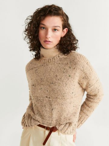 סוודר בטקסטורת וופל