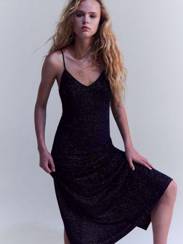 שמלת לורקס מקסי עם כתפיות דקות