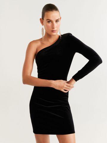שמלת קטיפה מיני וואן שולדר