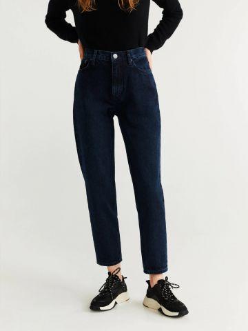 ג'ינס Mom-Fit בגזרה גבוהה