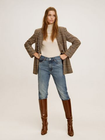 ג'ינס בגזרה גבוהה וישרה