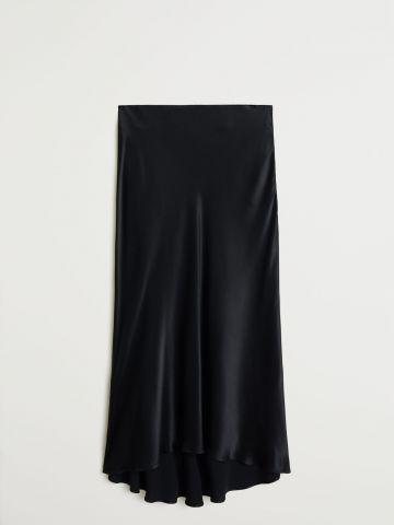 חצאית סאטן מידי / נשים