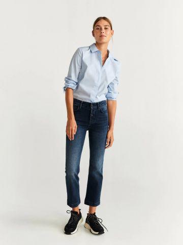ג'ינס ישר בגזרה גבוהה