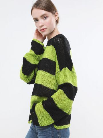 סוודר פסים אוברסייז