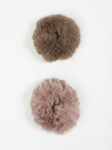 מארז 2 גומיות שיער פרוותיות