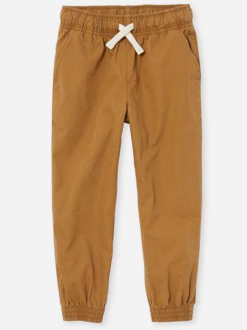 מכנסיים ארוכים עם גומי ושרוך קשירה