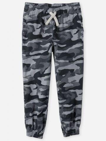מכנסיים ארוכים בהדפס קפומלאז' עם גומי / בנים