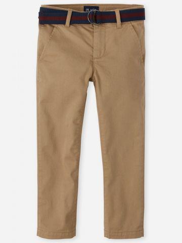 מכנסיים ארוכים עם חגורה / בנים