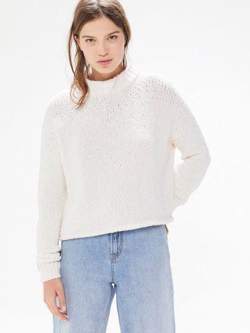 סוודר שניל עם צווארון גבוה UO של URBAN OUTFITTERS