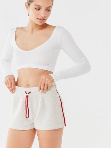מכנסי טרנינג קצרים עם סטריפים בצדדים Out From Under