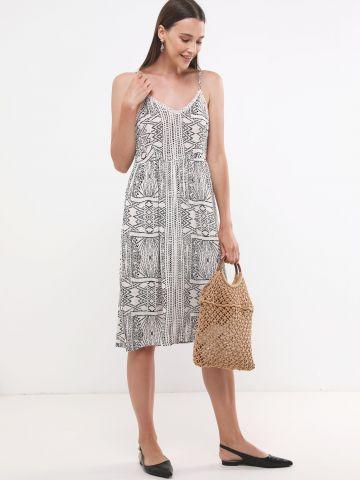 שמלת מידי בהדפס צורות