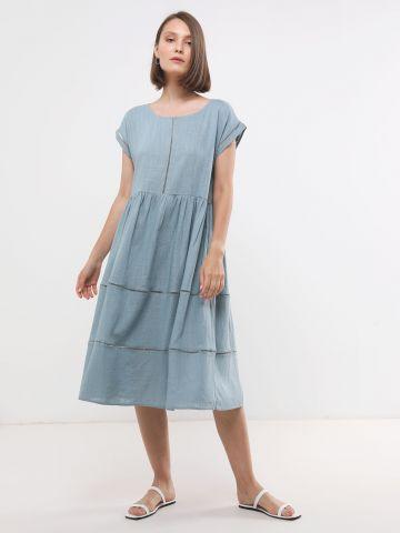 שמלת מידי עם עיטורי רשת