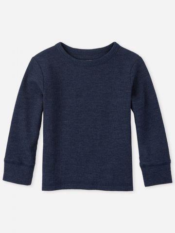 חולצת פיקה שרוולים ארוכים / 9M-5Y