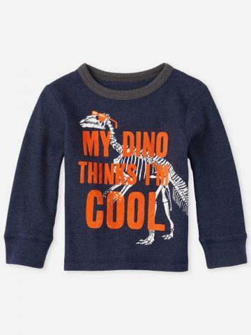 חולצת פיקה עם הדפס דינוזאור / 9M-5Y