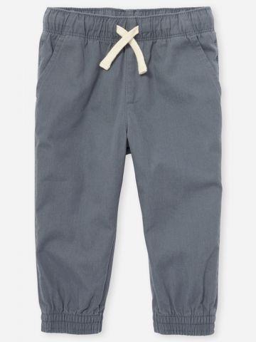 מכנסיים ארוכים עם גומי / 6M-4Y