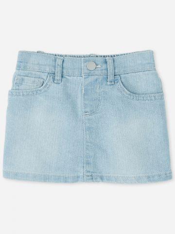 חצאית ג'ינס עם גומי / 9M-5Y