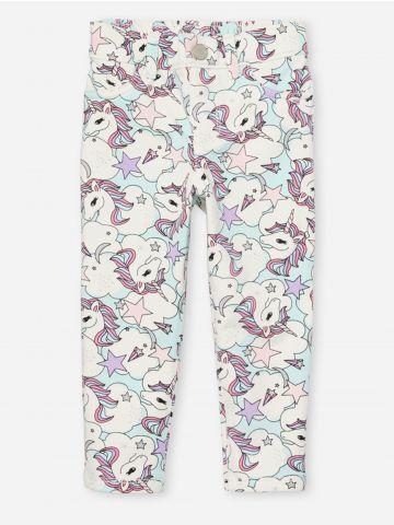 מכנסי ג'ינס בהדפס יוניקורן / 9M-5Y