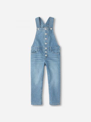 אוברול ג'ינס עם כפתורים / בנות