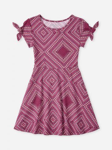 שמלת מיני בהדפס מעוינים / בנות