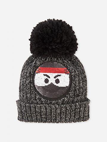 כובע גרב עם אימוג'י פאייטים מתחלפים / בנים