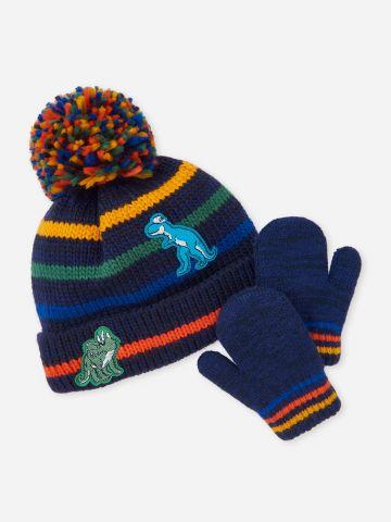סט כובע צמר וכפפות / 6M-5Y