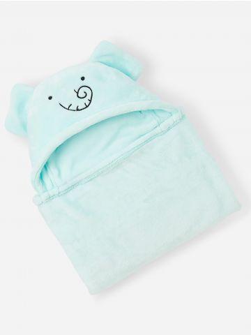 שמיכת תינוק עם כובע פיל / בייבי