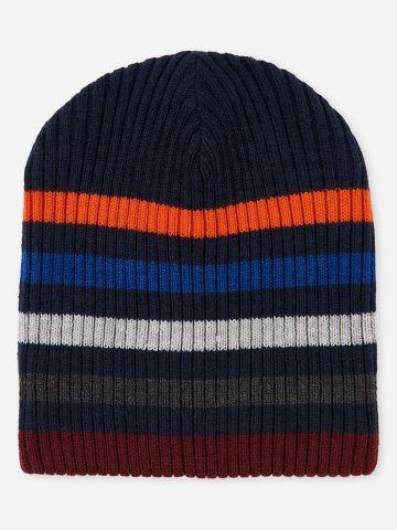 כובע גרב בהדפס פסים