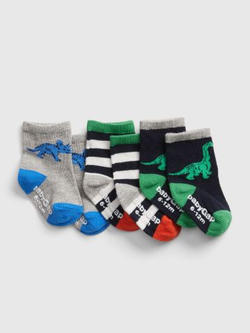 מארז 3 זוגות גרביים בהדפסים שונים / בייבי בנים