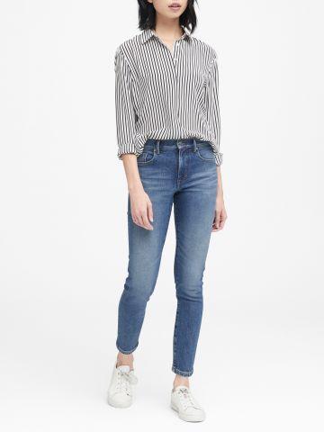ג'ינס בגזרה ישרה High-Rise Straight