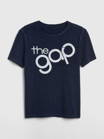 טי שירט עם הדפס לוגו Gap 50th anniversary / בנים