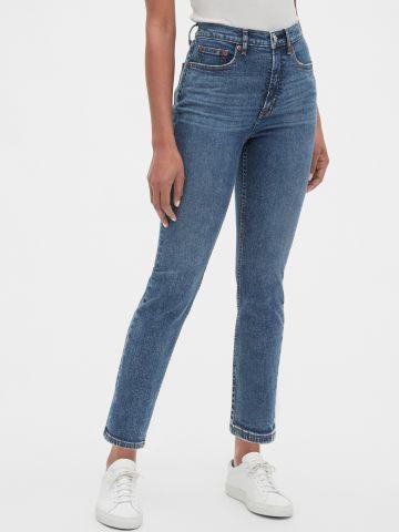 ג'ינס סלים בגזרה גבוה
