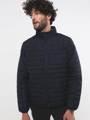 מעיל קווילט עם כיסים