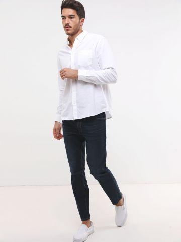 ג'ינס בשטיפה כהה Slim-fit